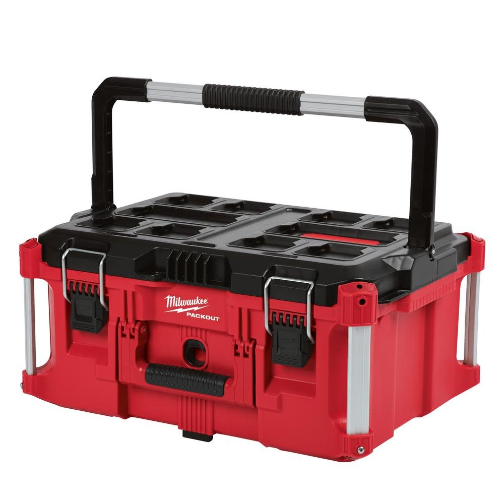 Heavy Duty, Versatile And Durable Modular Storage System PACKOUT 22 in. Large Tool Box By Milwaukee, Interior Organizer Trays, Heavy Duty Latches by Generic