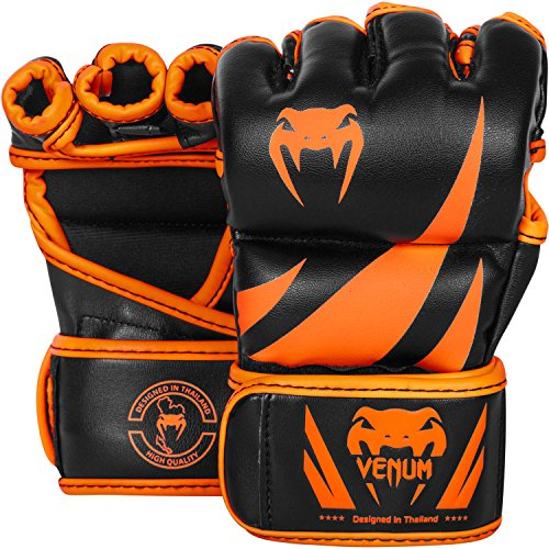 Venum Challenger MMA Gloves, Small, Black/Neo Orange