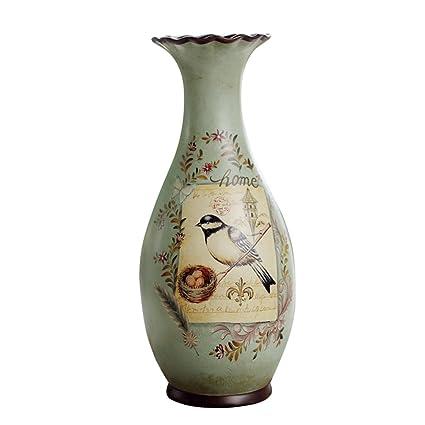 Amazon American Style Retro Ceramic Flowers Birds Large Vases