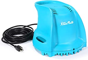 XtremepowerUS 75165 1/3 HP Motor 300W Automatic Swimming Pool Cover Submersible Pump, Blue