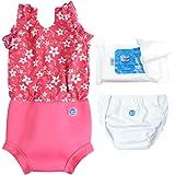 Splash About Happy Nappy Costume Essentials Set (Large 6-14m, Pink Blossom Pattern)