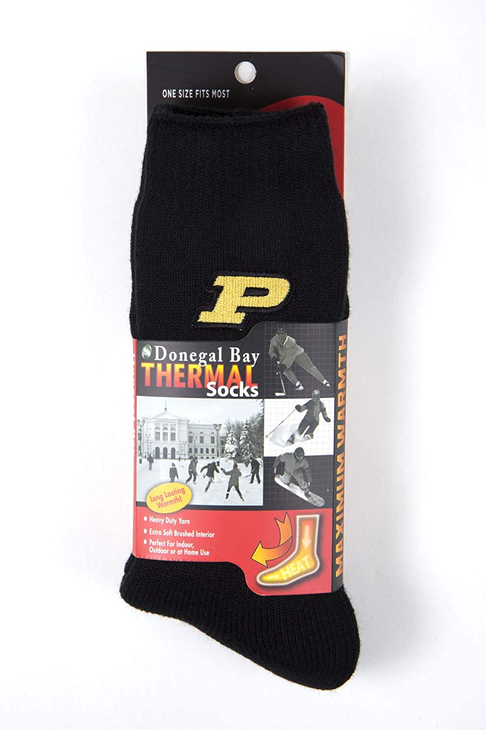 One Size Donegal Bay NCAA Purdue Boilermakers Unisex Purdue Boilermakers Thermal SockPurdue Boilermakers Thermal Sock Black