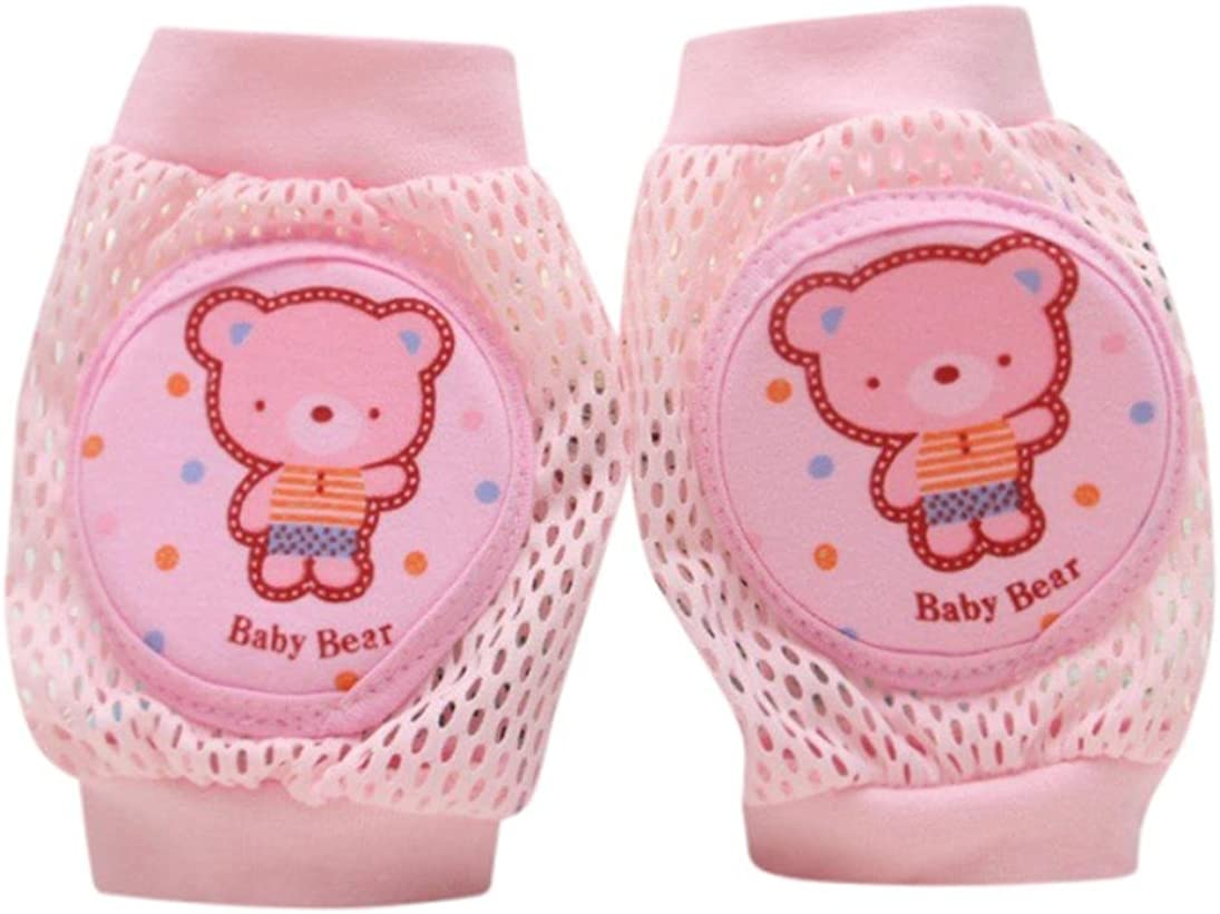 Digood Toddlers Baby Girls Boys Cartoon Safety Crawling Elbow Cushion Kneecap Pads Breathable