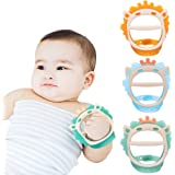 Baby Teething Toys for 0-6 and 6-12 Months Teethers 3packs for Infants, BPA-Free, Eco-Friendly Non-Toxic Silicone, Adjustable