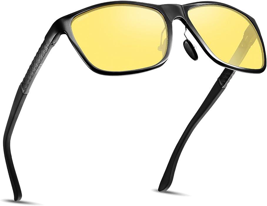 fe084c8f2a Soxick Night Driving Polarized Glasses for Men Women Anti Glare Rainy Safe  HD Night Vision HOT Fashion Sunglasses  Amazon.co.uk  Clothing