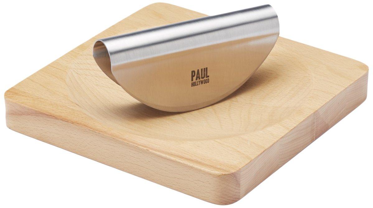 KitchenCraft Paul Hollywood Mezzaluna Herb Chopper and Board Set Kitchen Craft PHMEZSET