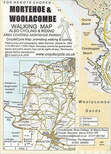 mortehoe and woolacombe walking map amazoncouk mike harrison 9780955016844 books