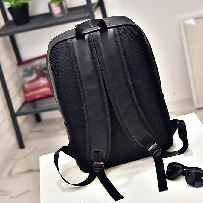 Amazon.com: Tootu Mens Womens Leather Backpack Laptop Satchel Travel School Rucksack Bag (Black): Sports & Outdoors