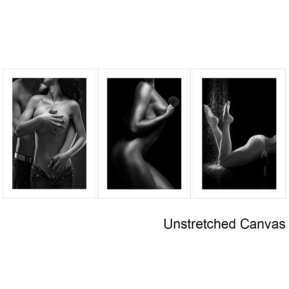 vvovv壁装飾 – 現代ホーム装飾のベッドルームセクシーヌード絵画モダンキャンバス印刷アートワークの壁アートHD画像ポスターTriptych壁画 Unframed 16x24inchx3pcs VO3061 B071HF2DWB Unframed 16x24inchx3pcs|Sexy Nude Sexy Nude Unframed 16x24inchx3pcs