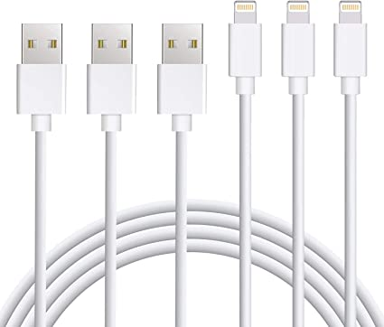 2 Pack 10FT USB Cable Infinite Power iPhone Charger Lightning Cable Set Charging Cord Compatible with Apple iPhone Xs,Xs Max,XR,X,8,8 Plus,7,7 Plus,6S,6S Plus,iPad Air,Mini//iPod Touch//Case