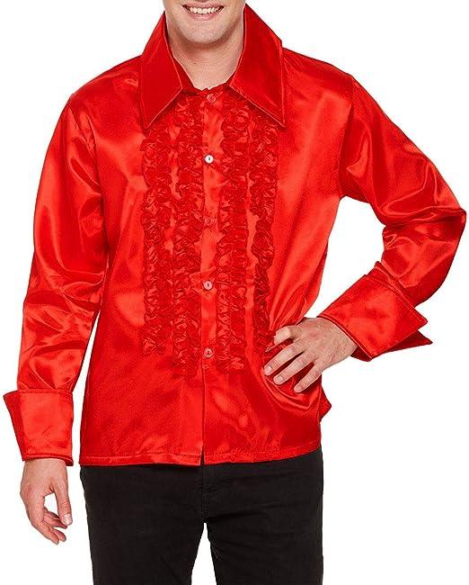 Islander Fashions Disco para Adultos Camisa con Volantes