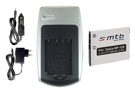 Batería + Cargador NP-120 para Casio Exilim EX-ZS10, ZS12, ZS15, ZS20