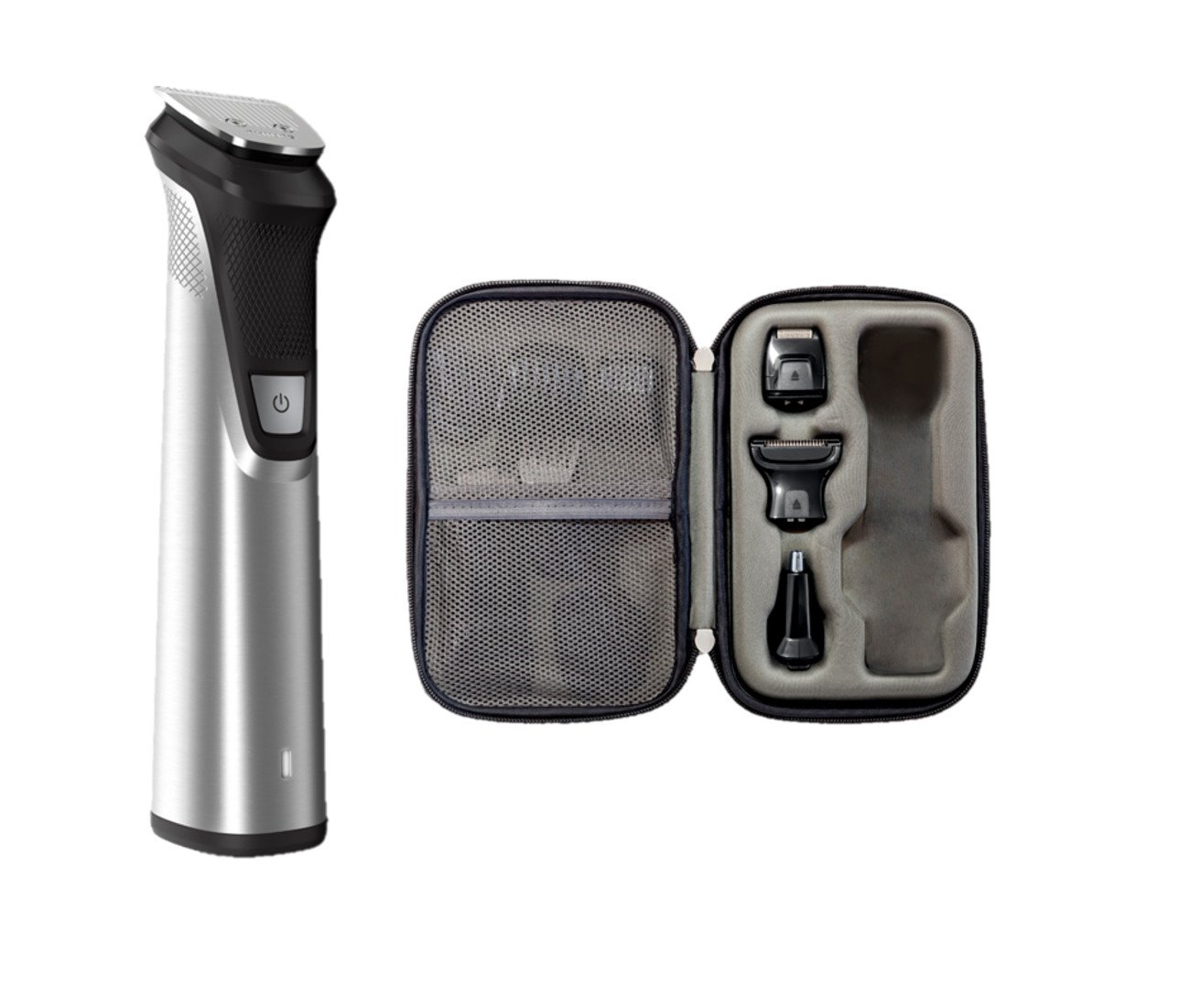 Philips Norelco Multigroom All-in-One Trimmer Series 7000, 25 pieces and premium case - No Blade Oil Needed, MG7770/49 by Philips Norelco