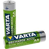 Varta 56736101402 Recharge Accu Solar AA Mignon Ni-Mh accu verpakking met 2 stuks 800 mAh - herlaadbaar zonder memory…