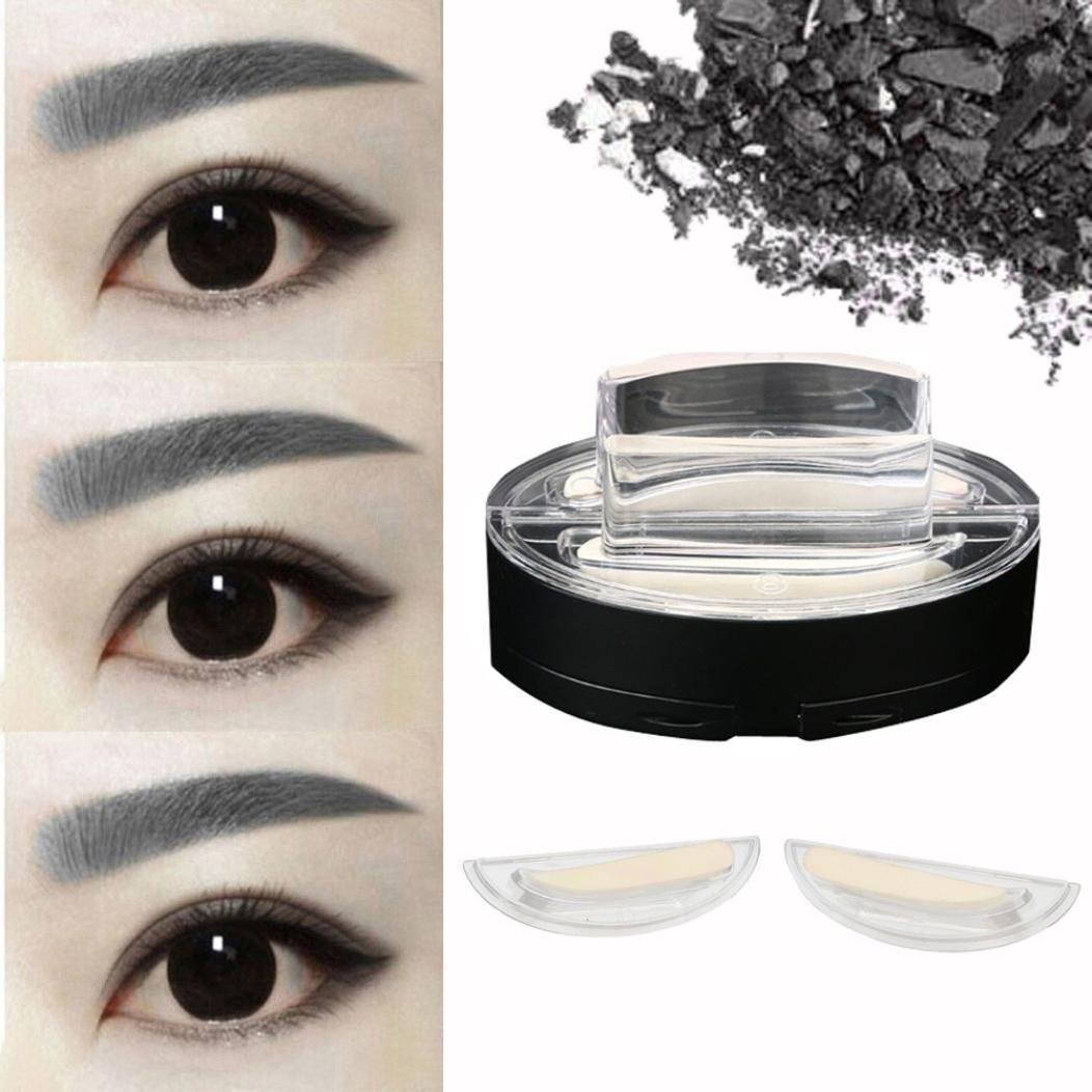 Amazon.com : Voberry Fashion Lazy Makeup Brow Stamp Powder Natural Enhancer Straight United Eyebrow Stamp (D, Gray) : Beauty