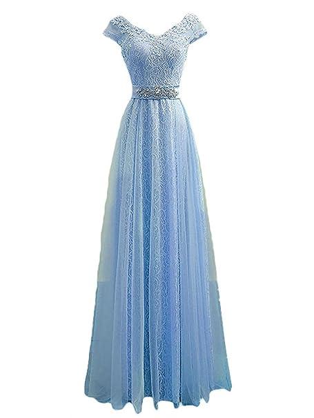 Vestido azul claro fiesta