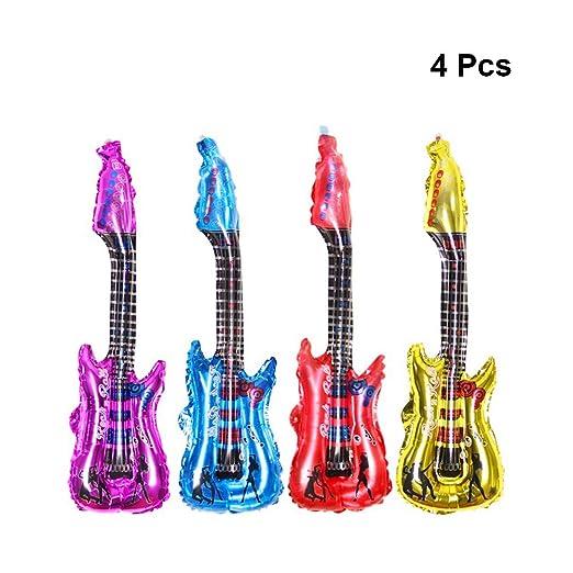 NUOBESTY - Lote de 4 Globos de Aluminio para Guitarra Hinchable ...