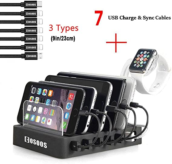 : USB Charging Station for iPhone,COSOOS Charger