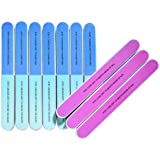 10 PCS IFUNSON Professional 7 Way Nail File and Buffers for Women Girls, Emery Boards, Manicure Tools
