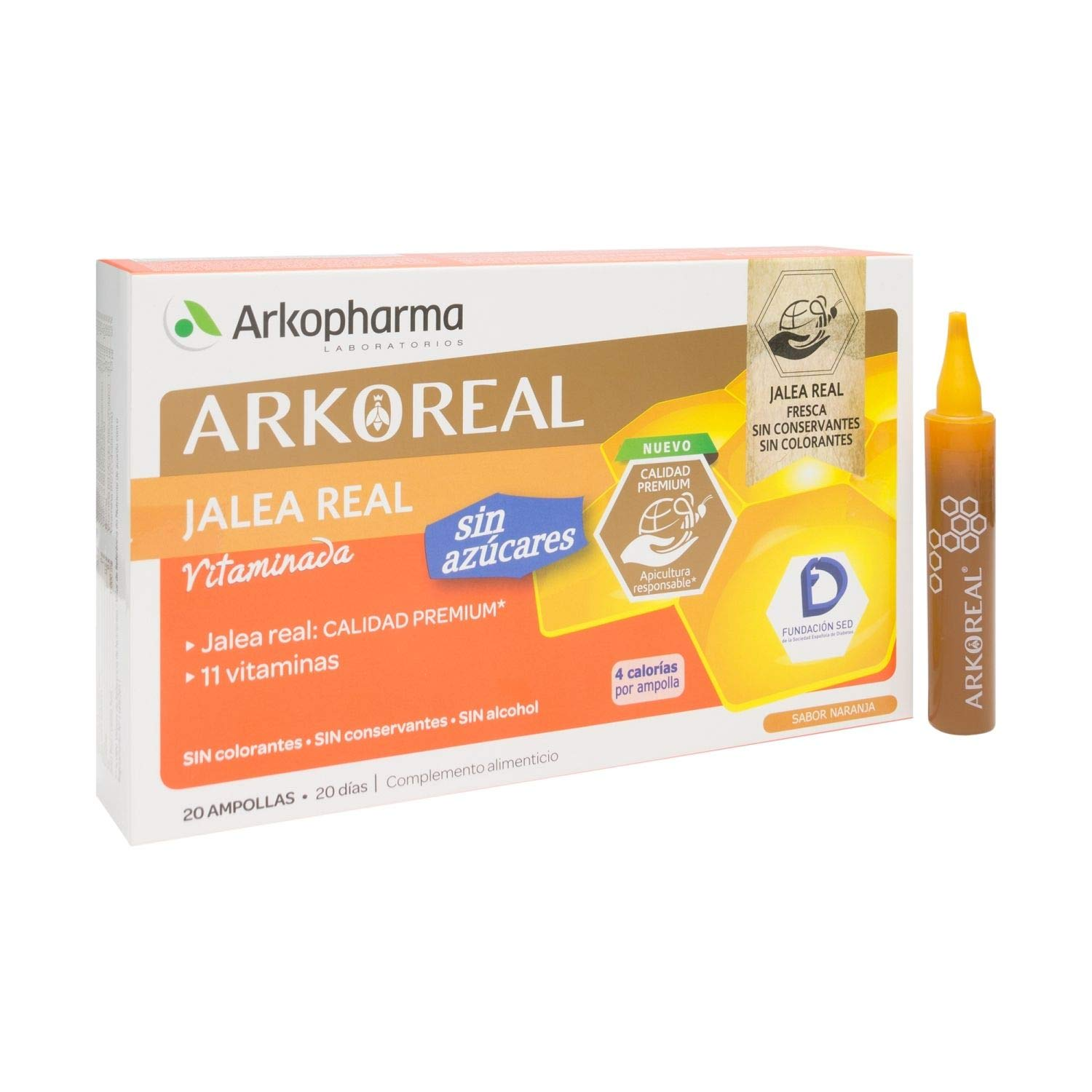 Amazon.com: Arkoreal Royal Jelly Vitaminised Sugar Free 20Amp - Help Recharge Your Energy with A Low Calorie - Multivitamins - No Fatigue and Tiredness: ...