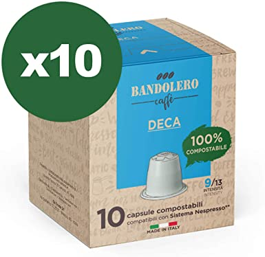 BANDOLERO 100% Compostable Made in Italy, 100 Cápsulas Compatibles ...