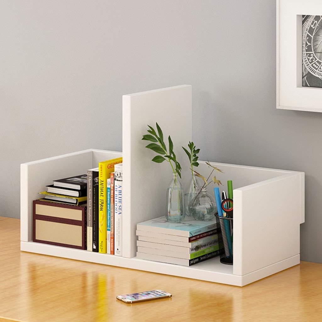 Lxrzls Bookshelf Simple Desktop Shelf Combination Bookcase Simple Modern Table Shelf Student Creative Cabinet.