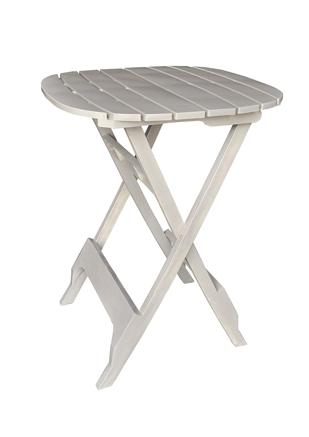 Adams Manufacturing 8560-48-3701 Quik-Fold Bistro Table, 40-Inch, White
