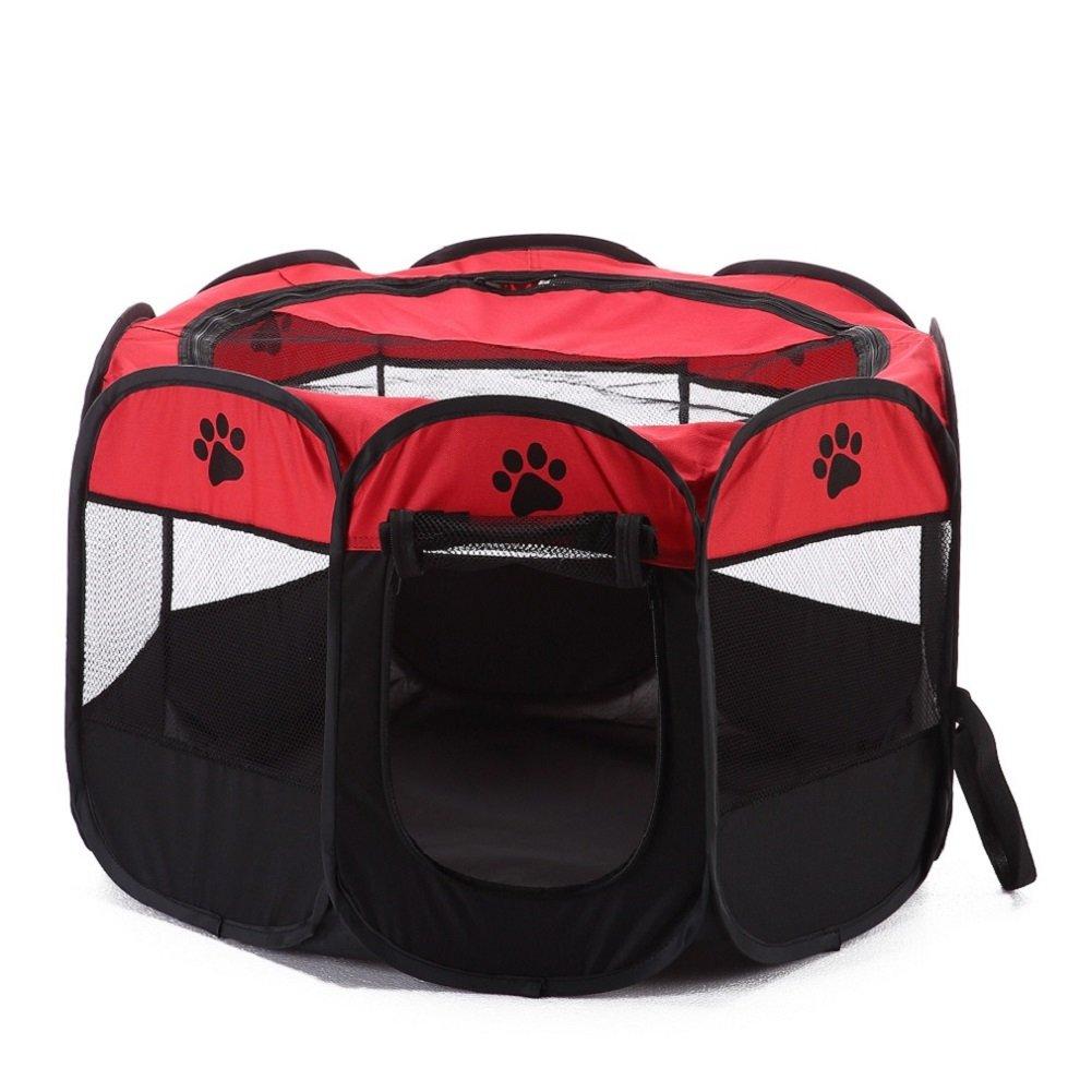 XianghuangTechnology Doux Tissu Portable Pliable pour Animal Domestique Chiot Parc, intérieur/extérieur Petits Chiens