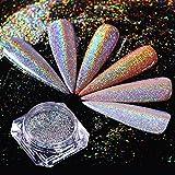 3d Hologram - 0.5g Nail Glitter Dust Mirror Effect Nail Art Chrome Pigment Holographic Nail Powder Manicure Decorations