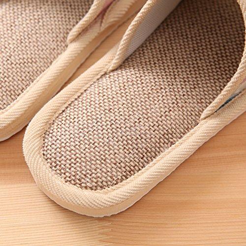 CWAIXXZZ pantofole morbide Colore solido durante la primavera e autunno inverno paio di pantofole di cotone soggiorno interni home pavimenti in legno e soffici lenzuola di cotone pantofole ,39/40 Codi