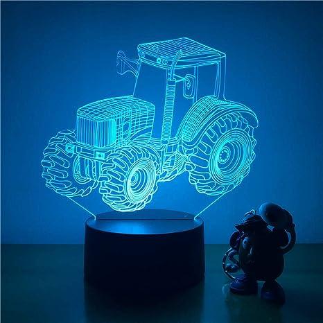 orangeww Lámpara de ilusión 3d / Tractor de ruedas grandes ...