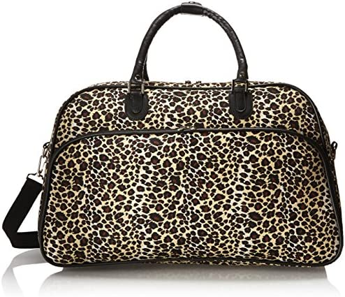World Traveler 21-Inch Carry-On Shoulder Tote Duffel Bag, Leopard, One Size
