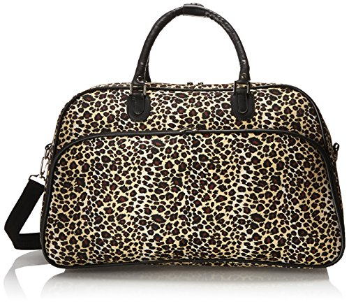- World Traveler 21-Inch Carry-On Shoulder Tote Duffel Bag, Leopard, One Size