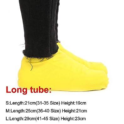 1 Pair Rubber Reusable Latex Waterproof Rain Shoes Covers Slip-resistant Rain