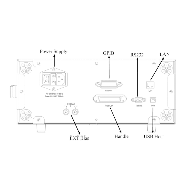 Digital Desktop LCR Meter ET3502 Desktop High Precision Digital LCR Bridge 10Hz~200KHz measuring range 6 1//2 Digit Display Continuously 200-240V //-0.05/% Accuracy