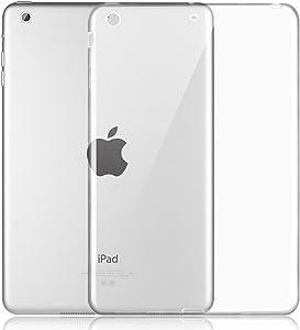 iPad Mini Clear Case, iCoverCase Ultra-Thin Silicone Back Cover Clear Plain Soft TPU Gel Rubber Skin Case Protector Shell for Apple iPad Mini 1/2/3/
