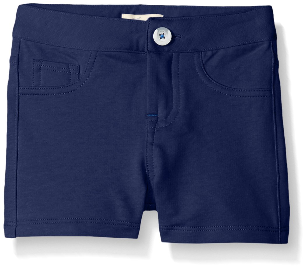Scout + Ro Little Girls' Five-Pocket Knit Short, Flag Blue, 5
