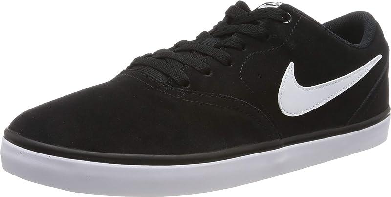 Nike SB Check Solarsoft Sneakers Skateboardschuhe Herren Schwarz mit weißen Streifen