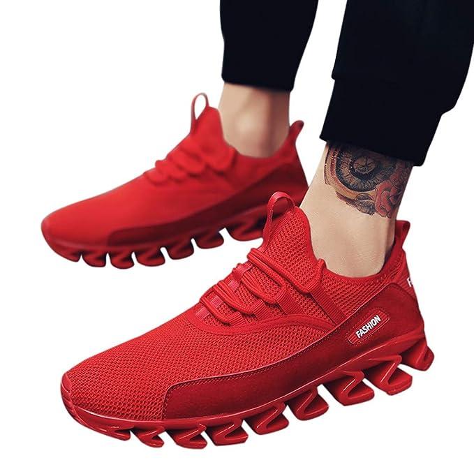 Btruely Zapatillas Hombre Deportivas de Deporte para Correr Zapatillas al Aire Libre para Hombres Zapatillas de Alpinismo Correr Running Sneakers con ...
