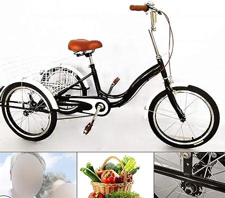Bicicleta de 20 con 3 ruedas para adultos de una sola ...