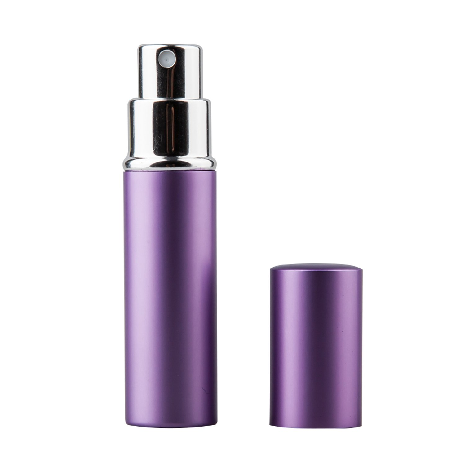TRIXES 5ml Easy Fill Travel Perfume Aftershave Atomiser Spray Bottle Purple PP03