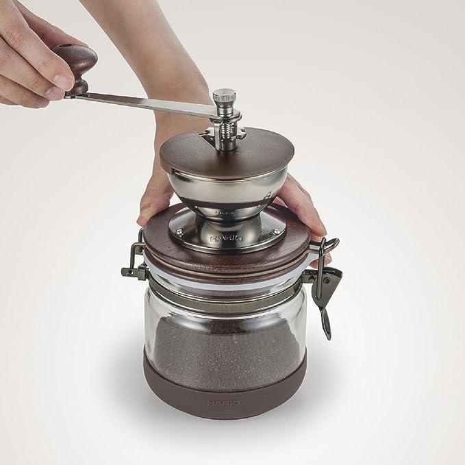 Hario Canister Color Marron Molinillo de caf/é Manual