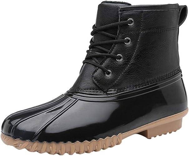 Amazon.com: Fheaven Women's Boots Velvet Lined Rain Footwear Garden Outdoor  Shoes Large Size Lightweight Waterproof Work Shoes: Shoes