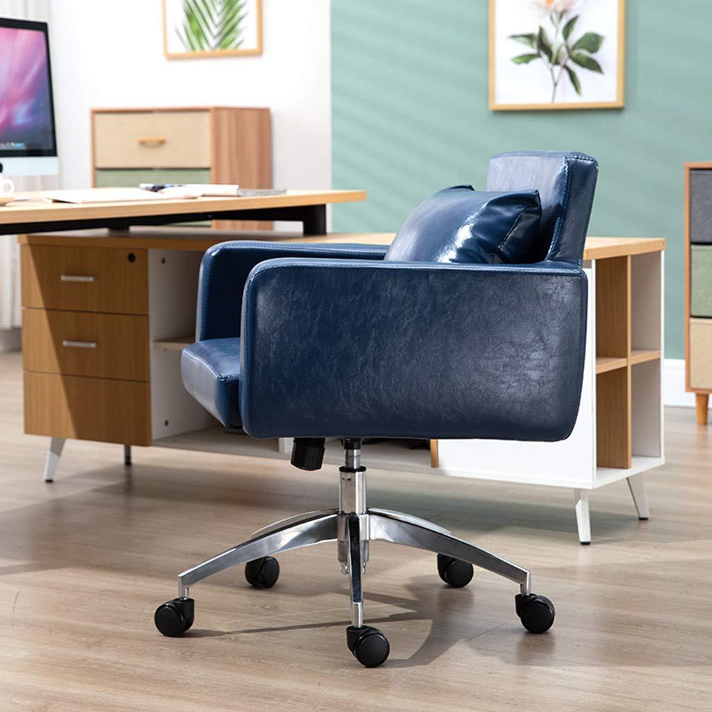 SSNG kontorsstol skrivbordsstol, mode mellanrygg soffa uppgift stolar, vridbara läder dator skrivbordsstolar, för vardagsrum konferensrum studierum kontor BLÅ