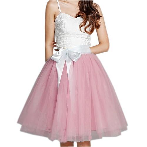 CoutureBridal - Falda - trapecio - para mujer Rosa 52-56