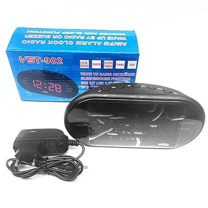 Unitedheart Am FM Alarm Clock, 220V EU Enchufe Am FM Radio de frecuencia Dual Radio