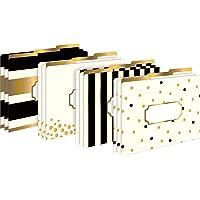 Barker Creek Letter-Size File Folders, Gold, Pack of 12