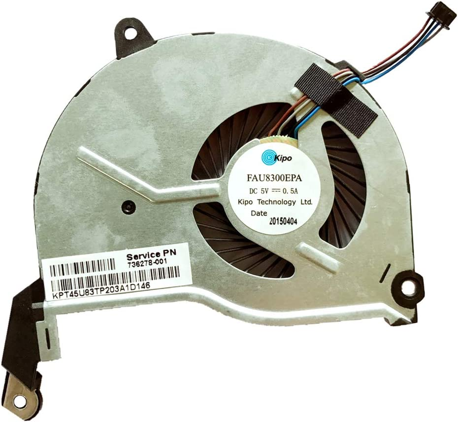 Compatible Laptop CPU Cooling Fan Cooler for Notebook pc for HP Pavilion 15 15-N 17-N 14-N 15-F TPN-Q132 tpn-q131 tpn-q130 736278-001 736218-001 736278-001 732068-001 742824-001 tpn-q129