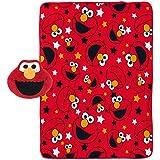 "Sesame Street Elmo 2-Piece Plush 40"" x 50"" Travel Throw and Face Pillow"