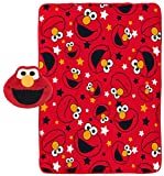 Jay Franco Sesame Street Elmo 2-Piece Plush 40'' x 50'' Travel Throw and Face Pillow